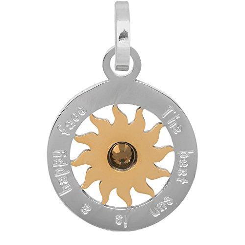 iXXXi Anhänger SONNE silber gold - Ø 2,2 cm