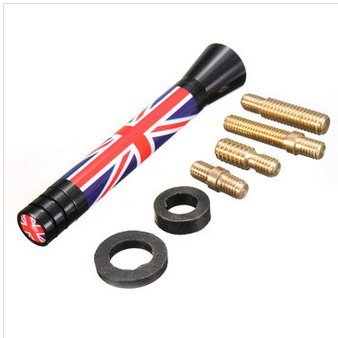 Alamor 7.7Cm / 10.7Cm Union Jack Reino Unido Ger Bandera Fibra De Fibra Cuadrícula Antenna-1