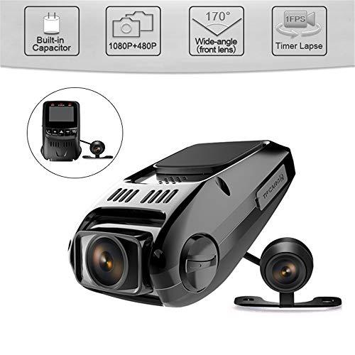 BQT Caméra Tableau de Bord Voiture 1,5 Pouces écran FHD Full HD 1080P, caméra Frontale Grand Angle 170 °, Vision Nocturne Voiture enregistreur caméra DVR avec capteur G