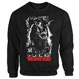 TWD Zombie Horror TV Serie Film Thriller Walking Dead Braindead schwarz Sweatshirt M