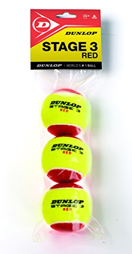 Dunlop Pelotas Mini Tenis Stage 3 Red x3