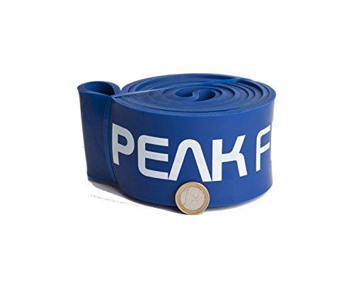 Peak Fitness Fasce Elastiche ad Anello Crossfit e trazioni - Perfette per allenamenti di Sollevamento Pesi e Powerlifting - Vari Livelli di Resistenza in Base ai Colori