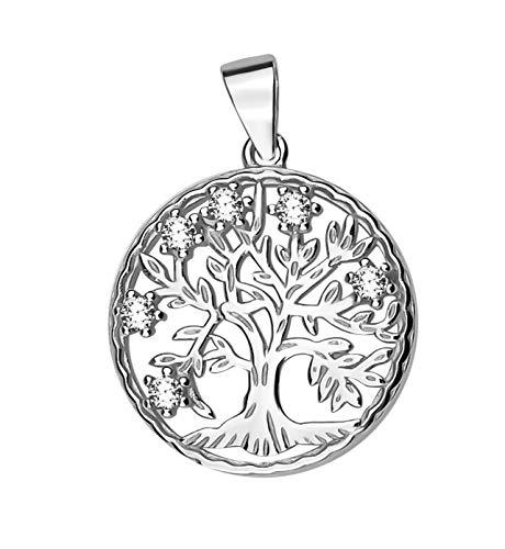 Sofia Milani Damen Anhänger Kette Lebensbaum Silber 60292