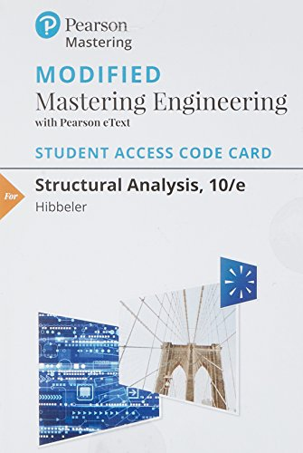 Modified Mastering Engineering with Pearson eText -- Standalone Access Card -- for Structural Analysis (10th Edition)