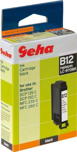 Geha Tintenpatrone für Brother ersetzt Nr. LC 970BK schwarz