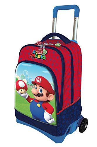 Super Mario Rucksack Trolley Schule Rot 200340