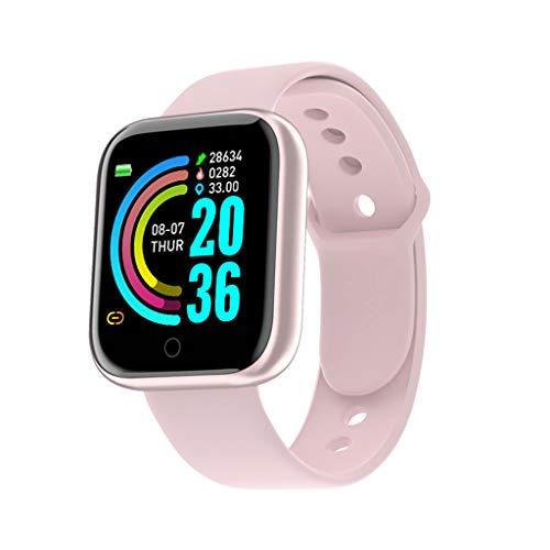 SweetWU - Reloj inteligente con Bluetooth, monitor de ritmo cardíaco, resistente al agua, monitor de actividad física