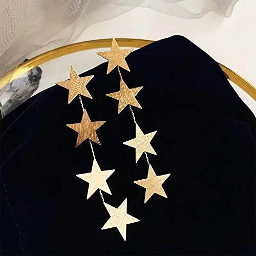 xingguang Novedad pendientes Multi Capa Estrellas Pendientes Largos Para Mujeres Color Dorado Etrendy Nuevo Elegante Gota Pendientes Pendientes Moda