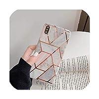 iPhone11pro最大7 / 8plus粉砕防止、レーザースプライシング、iPhone11 Pro用の亜鉛メッキステッチ格子大理石パターン携帯電話ケース
