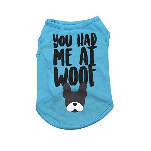 Ropa De Mascotas Camisa del perro del perro camisetas de la ropa del verano del partido Impreso ropa del chaleco del perro casero ropas del animal doméstico ropa de verano for los pequeños perros de p