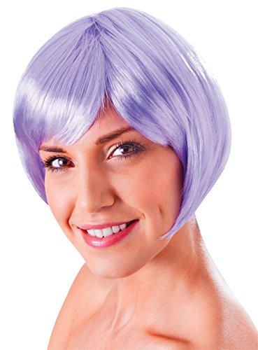 Bristol Novelty BW859 Flirty flick-pruik, blond, eenheidsmaat sering Eén maat lila (lilac)