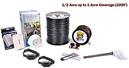 Electric Dog Fence™ PetSafe YardMax Containment System Professional Grade Complete DIY Installation Kit (1/2 Acre to 1 Acre Coverage Area) (2 Dog Kit)