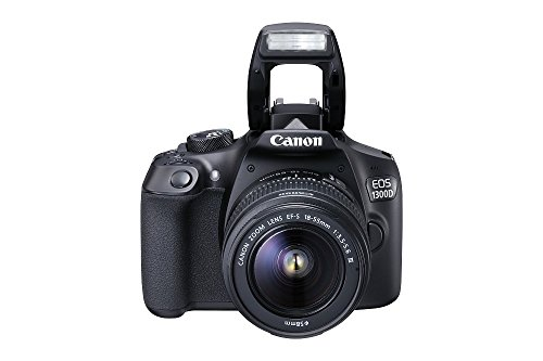 Canon EOS 1300D - Cámara réflex de 18 Mp (pantalla de 3', Full HD, 18-55 mm,...