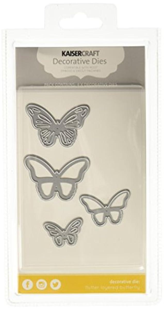 Kaisercraft Flutter Layered Butterflies Dies, 2 by 1.5