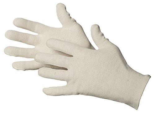 Jah 830 Baumwollhandschuh 12 Paar detektierbar leicht natur Gr. 10