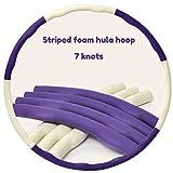 GHH Hula-Hoop in Schiuma per Fitness,Staccabile a 8 sezioni per Perdere Peso Dimagrire Hula Hoop Fitness Dimagrante,Rimovibile Comodo,Viola,7