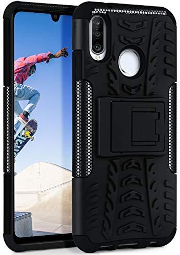 OneFlow Cover Sportiva Doppio Strato Compatibile con Huawei P30 Lite | Silicone/plastica, Nero