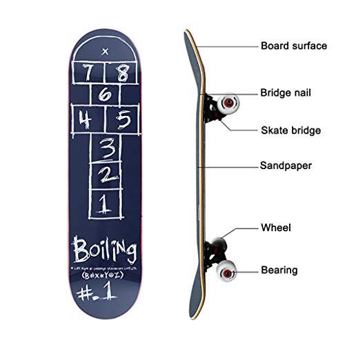 Skateboards Longboards Professionele skateboards beginners jongens meisjes kinderen volwassenen 4 wielen skateboard dubbele wip