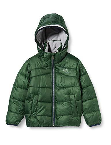 Sanetta Jungen Outdoor Jacke Cross Green Warme Winterjacke in Dunkelblau Kidswear in einem sportiven Look mit Abnehmbarer Kapuze, grün, 098