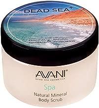 Avani Natural Mineral Body Scrub - Dead Sea Salt, Vitamin E, Jojoba, Sunflower, Sweet Almond - Exfoliating Formula for All Skin Types - Citrus/Vanilla