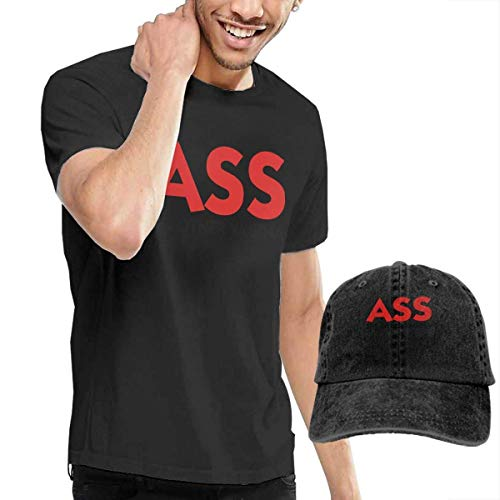 SOTTK Kurzarmshirt Herren, t-Shirts, Tee's, Ass-The Other Vagina Men's Cotton T-Shirt with Round Collar with Adjustable Baseball Cap