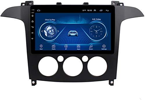 Coche GPS Player Multimedia Es Adecuado para Ford S-MAX 2007-2008 Android con La Máquina Integrada De Navegación Bluetooth Toque Completo,4core 4g WiFi:1+32gb