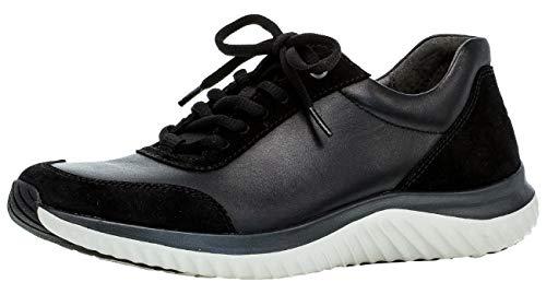 Gabor Damen Sneaker 36.981, Frauen Low-Top Sneaker,Halbschuh,Schnürschuh,Strassenschuh,Business,Freizeit,schwarz,40 EU / 6.5 UK