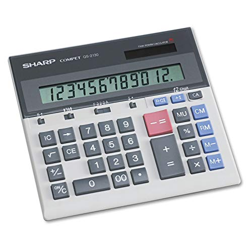 Unknown1 Sharp Compact Desktop Calculator 12-Digit LCD Grey