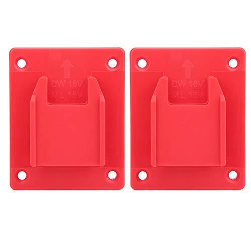 Elektrowerkzeug-Maschinenständer, 2 Stk. Geeignet für Milwaukee M18 18 V/DEWALT 20 V Wandregal-Befestigungsgeräte für Elektrowerkzeugmaschinen(rot)