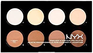 NYX HCPP01 Highlight & Contour Pro Palette 8 Colors x 0.09 oz Full Size **BCS_INPF**