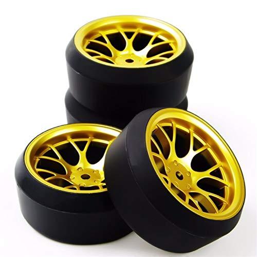 Perfekt DHG + PP0370 4Pcs / Set Maßstab 1:10 Drift Reifen und Felge mit 12mm Hex fit On-Road-Auto-Modell Zubehör Modell Radreifen (Color : As Show)
