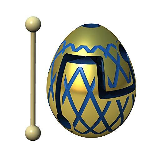 Smart Egg Jester Gold - 3D Puzle de Laberinto y Juguete Educativo para Niños, Nivel 4 en Una Increíble Serie Rompecabezas - Desafío y Diversión en La Solución del Laberinto Dentro del Huevo