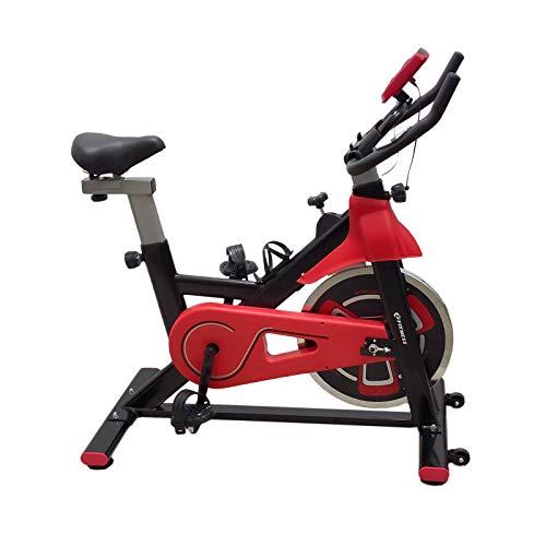 FFitness Cyclette Spin Bike Fit da Interno con Porta Cellulare, Resistenza Regolabile, Cardio e Volano 13kg