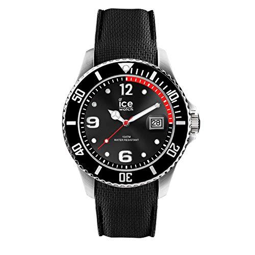 Ice-Watch - ICE steel Black - Men\'s wristwatch with silicon strap - 016030 (Medium)