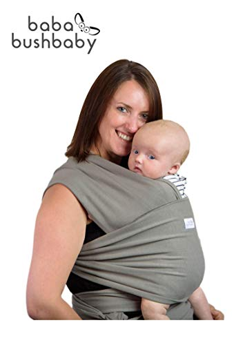 Super Quality Baby Sling Carrier | Soft Breathable Cotton Baby Wrap Carrier | Post Postpartum Belt | Nursing Cover | Great Infant Carrier | Perfect Gift | Plastic Free Packaging | (Khaki)