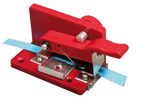 Rayher Hobby 71988000 Quilling Fringer, Werkzeug zum Schneiden von hauchfeinen Papierfransen, Fransenschneider für Papierstreifen von 6 - 9 mm