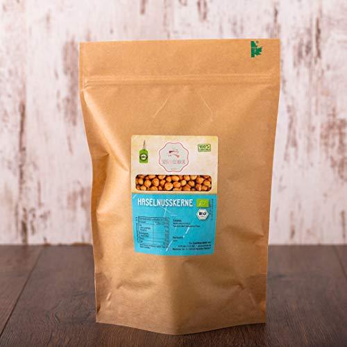 süssundclever.de® Bio Haselnusskerne   1 kg   100% naturbelassen  Premium Qualität   plastikfrei und ökologisch-nachhaltig abgepackt