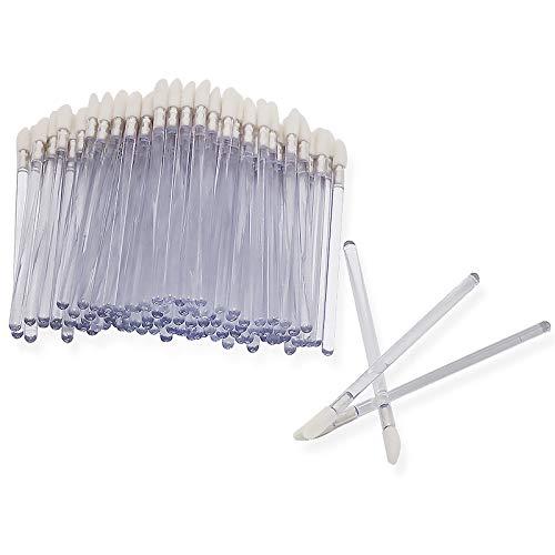 Shintop Disposable MakeUp Lip Brush Lipstick Gloss Wands Applicator Perfect Make Up Tool (100pcs clear)