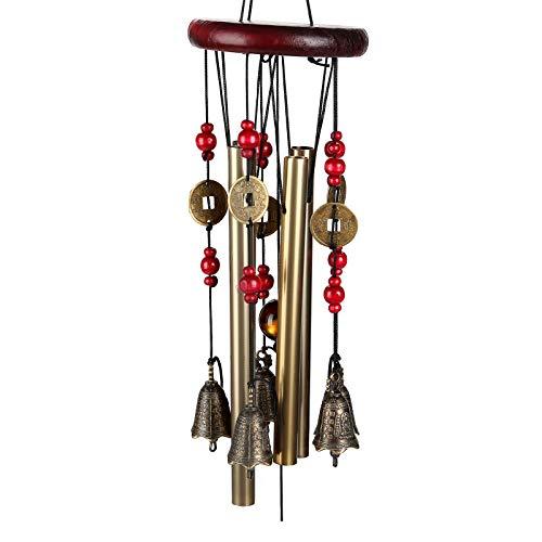 AllRight Traditional Windspiel Erstaunlich 4 Klangröhren Bronze Glocken Klangspiel Garten Outdoor Dekration Geschenk