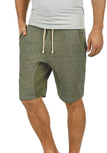Blend Smash Herren Sweatshorts Kurze Hose Jogginghose Mit Melierung Und Kordel Regular Fit, Größe:XL, Farbe:Ivy Green (77026)