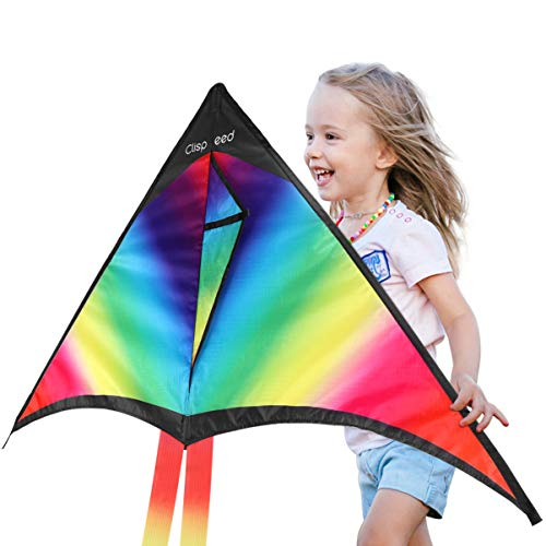 CLISPEED Rainbow Kite with Strin...