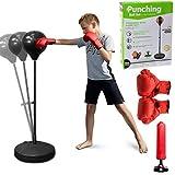 Punchingball 120cm höhenverstellbar, Standboxball freistehend, Boxsack...