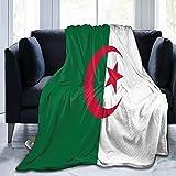 Flanelldecke mit Flagge von Algerien, flauschig, bequem, warm, leicht, weich, Überwurf für Sofa, Couch, Schlafzimmer