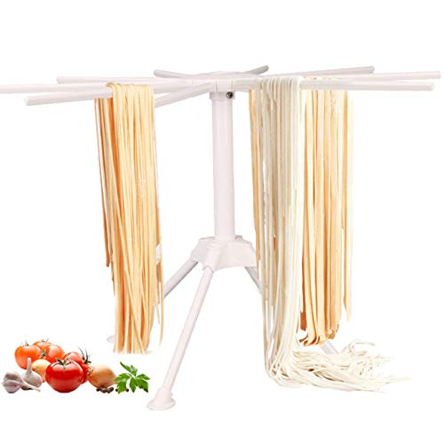 POHOVE Nudeltrockner mit 10 klappbaren Griffen, für den Haushalt, zum Aufhängen von Nudeln, Spaghetti-Trockner, Halterung für die Herstellung von Küchennudeln