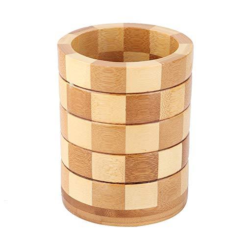Soporte para Palillos de bambú Palillos de Madera Natural Utensilios Organizador de Cubiertos de Cocina para el hogar Tenedores Cucharas Palillos