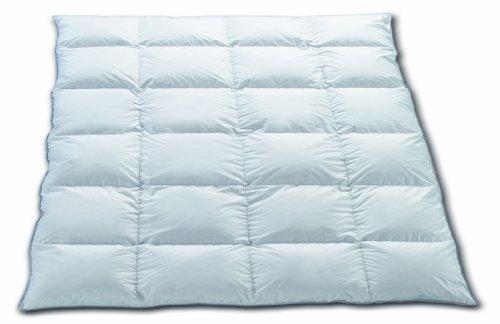 Hermetic symphonie pour lit double 200 x 200 cm - 4 x 6 chambres et masurischer blanche 1A 1332 nouveau g 100 % duvet d'oie et duvet classe 1, 100 % coton, Blanc, 200 x 200 cm