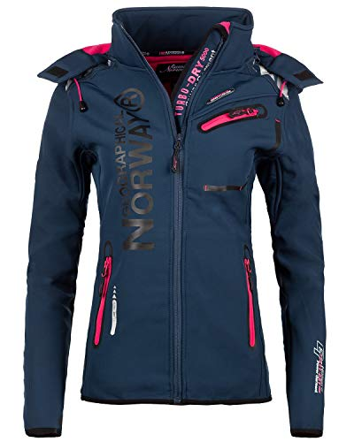 Geographical Norway Damen Softshell Freizeit Jacke Navy M
