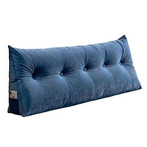 YMHSW Cojin Grande Sofa en la Cama para Dormir Utilizado para Cabecera De Dormitorio, Extraíble Y Lavable(Size:80×20×50CM,Color:Azul)