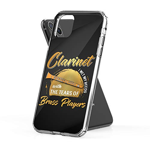 Case Phone Funny Clarinet Player for Marching Band Members (6.5-inch Diagonal Compatible with iPhone 11 Pro Max)