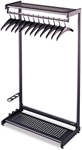 Quartet Two Shelf Garment Rack Freestanding 24 Inch Black 8 Hangers Included 20222 Office Products Amazon Com